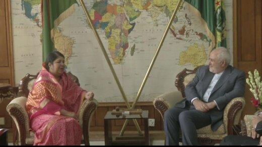 ظريف يبحث التعاون البرلماني مع رئيسة المجلس النغلاديشي