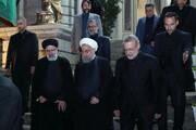مزاح روحانی و لاریجانی با رئیسی بر سر شام: از هیئتهای اطراف گرفته بودید؟/ مساکین را اطعام کردید، متشکریم