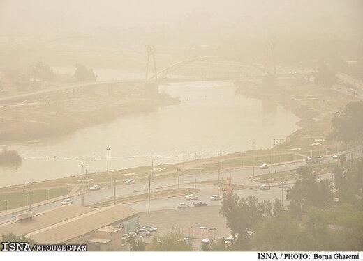 خوزستان و سیستان و بلوچستان غرق گرد و خاک/ شمال بارانی است