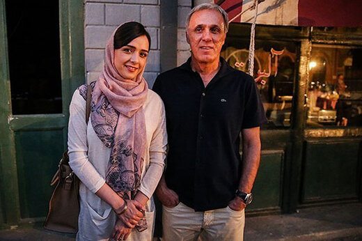 عکسی زیرخاکی از حمید علیدوستی و دخترش ترانه؛36 سال پیش
