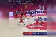 فیلم   حرکت دیدنی ستاره بسکتبال ایران در توییتر فدراسیون جهان