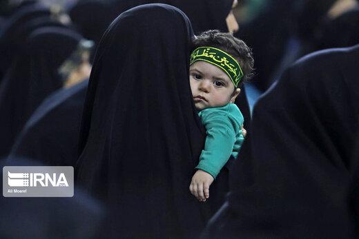 آیین شیرخوارگان حسینی در مصلی مهدیه امام خمینی(ره) اهواز