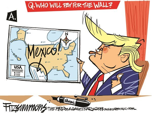 رد ماژیک ترامپ  این بار روی دیوار مرزی!