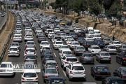 ترافیک در آزادراه قزوین_کرج_ تهران سنگین است