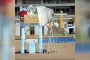 فیلم   «انگری بردز» بازی وسط خیابانهای بارسلونا!