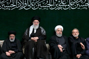 اقامة الليلة الثالثة من مجالس العزاء الحسيني بحضور قائد الثورة /صور