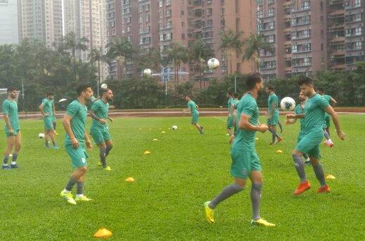 برگزاری آخرین تمرین تیم ملی پیش از دیدار مقابل هنگکنگ