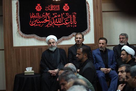 روحانی، جهانگیری و واعظی در مراسم عزاداری نهاد ریاستجمهوری +عکس