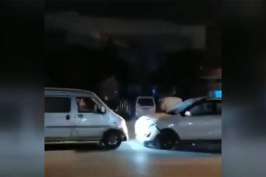 فیلم | راننده مست، یک تصادف را ۵ بار تکرار کرد!