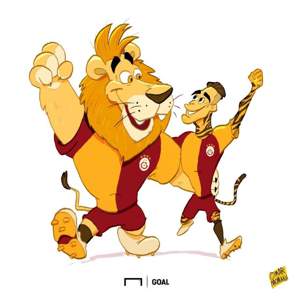 ببر برزیلی با شیرها توپ میزند!