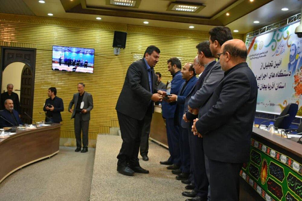 تقدیر از مدیرعامل شرکت توزیع برق آذربایجان غربی