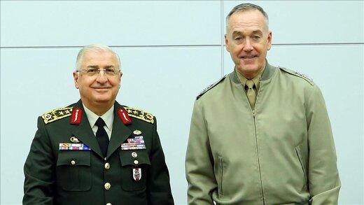 گفتوگوی تلفنی روسای ستاد کل ارتش ترکیه و آمریکا درباره منطقه امن شمال سوریه
