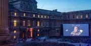 محوطه باز موزه لوور، برای ۸ روز سینما شد