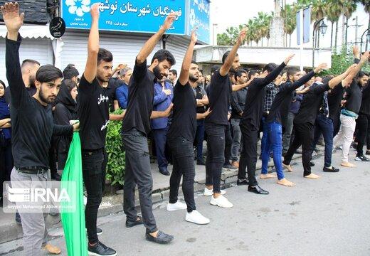 مراسم عزاداری روز تاسوعای حسینی(ع) در نوشهر