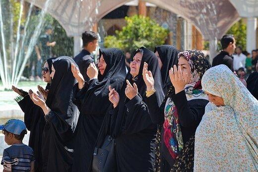 مراسم عزاداری تاسوعای حسینی در حرم شاهچراغ (ع)
