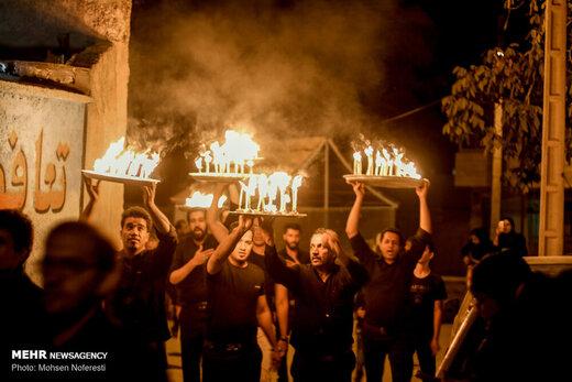 مراسم شمع گردانی روستای بهدان