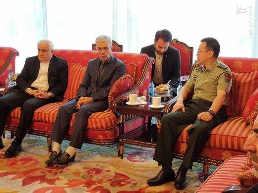 استقبال رسمی رئیس ستاد مشترک ارتش چین از سرلشکر باقری