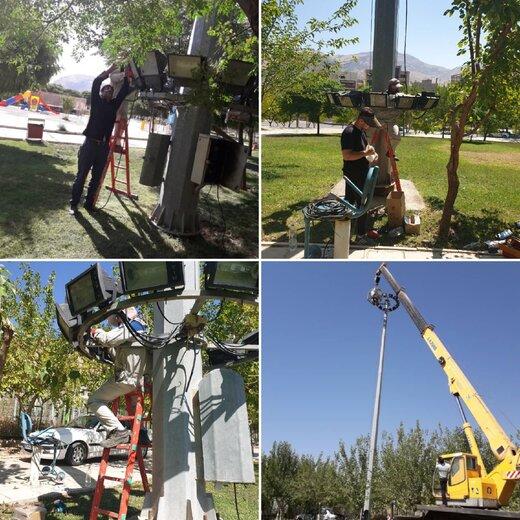 مطالبه خبرنگاران عملیاتی شد /آغاز تکمیل و توسعه روشنایی پارکهای خرم آباد