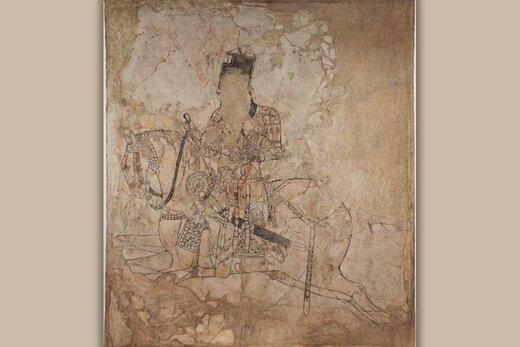 شکارچی ۱۲۰۰ ساله ایرانی و اسبش روی دیوار موزه