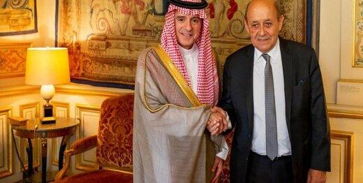 عادل الجبیر با وزیر خارجه فرانسه دیدار کرد