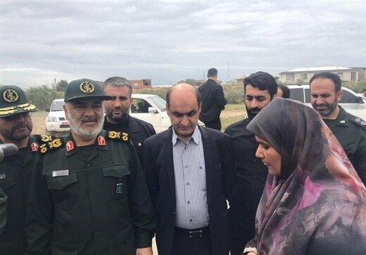 چند تصویر از حضور فرمانده کل سپاه در جمع زلزلهزدگان