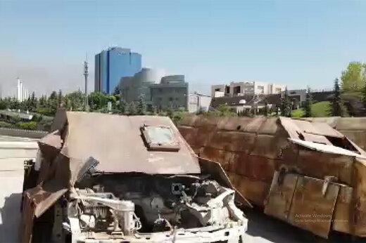 فیلم | نمایش غنائم جنگی داعش در تهران