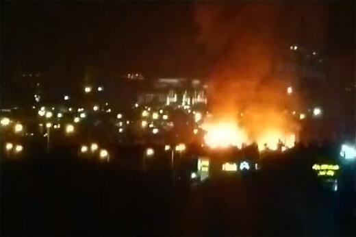 فیلم منتشرشده از آتش سوزی در مجموعه ورزشی امام رضا(ع) تهران