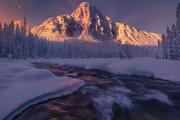 عکس   صبح برفی در کوههای راکی در عکس روز نشنال جئوگرافیک