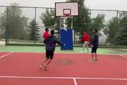 فیلم   بازی جالب بازیکنان پرسپولیس با حلقه بسکتبال