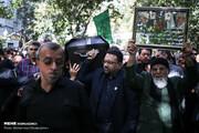 تصاویر | پیکر مرحوم عسگراولادی تشییع شد