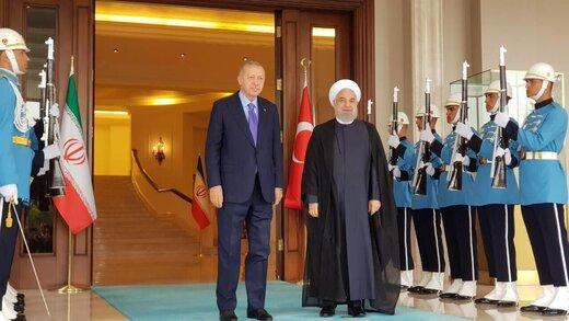 حسن روحانی با رجب طیب اردوغان دیدار کرد +عکس