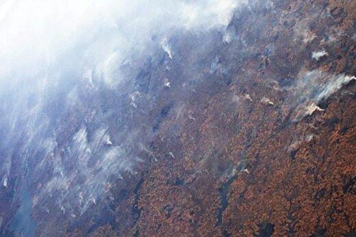 فیلم | تصاویر آتش سوزی آمازون و طوفان دوریان از فضا!
