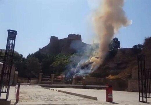 فیلتر سیگار یک گردشگر دلیل آتش سوزی در قلعه فلک الافلاک