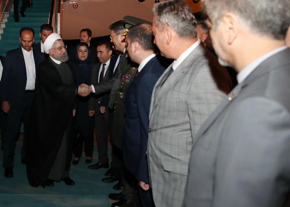 استقبال مقامات ترک از روحانی