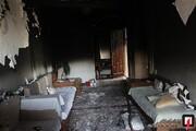 تصاویر | نجات کودک ۶ ساله از آتشسوزی در بزرگراه نواب