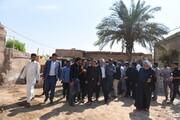 حضور استاندار البرز در جمع مردم روستای یکاویه یک شهرستان باوی