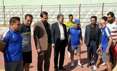 حضور مدیر کل ورزش جوانان لرستان در تمرینات تیم خیبر خرم آباد