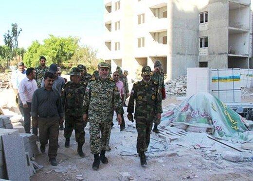 بازدید فرمانده نزاجا از روند ساخت منازل سازمانی تیپ ۲۹۲ زرهی دزفول
