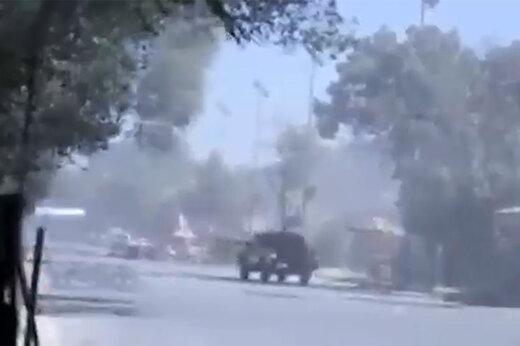 فیلم | صحنه انفجار در نزدیکی سفارت آمریکا در کابل