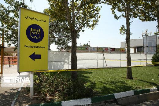 محل برق گرفتگی پسربچه ۶ ساله در ورزشگاه آزادی