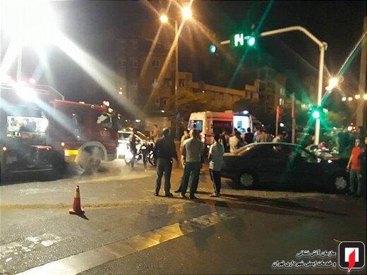 تصادف دو پژو 405 در بلوار ابوذر
