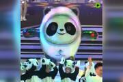 فیلم | رونمایی از پاندای یخی نماد عروسکی المپیک 2020