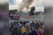 فیلم | مانور اطفای حریق در مجارستان حادثه آفرید!