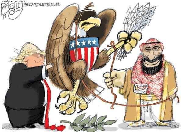 پرنده صلح سعودی آمریکایی را ببینید!