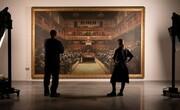 عکس | تابلوی نقاشی نقاش گمنام جنجالی از مجلس عوام انگلیس در اعتراض به برگزیت