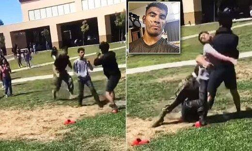 فیلم | صحنه وحشتناکی که تفنگدار آمریکایی در یک دبیرستان رقم زد!
