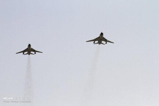 تمرین مشترک هوایی نیروهای مسلح در پایگاه نهم شکاری