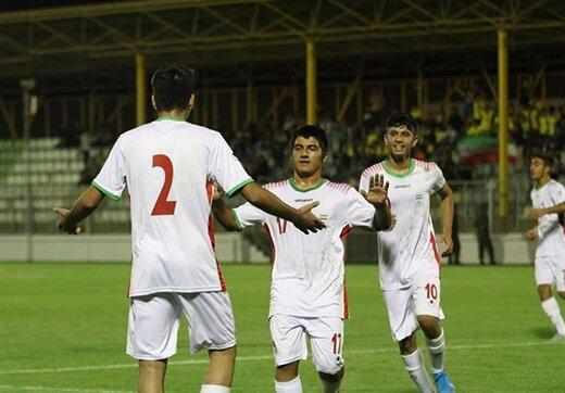 فوتبال مقدماتی زیر ۱۶ سال آسیا/صدرنشینی ایران با برتری مقابل فلسطین