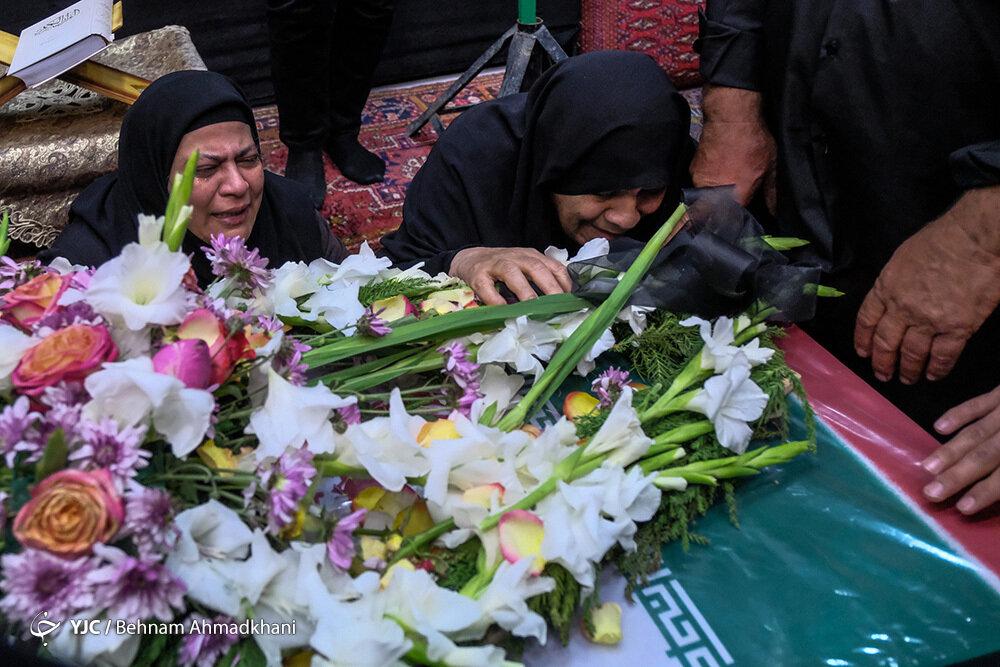 تشییع پیکر شهید محسن ساری پس از ۳۵ سال