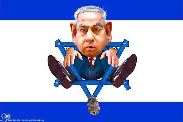 اینم نتانیاهو پس از شکست در انتخابات!